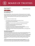October 17, 2019 Board of trsutees Meeting Minutes by Central Washington University Board of Trustees