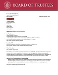 April 27, 2020 Board of Trustees Meeting Minutes by Central Washington University Board of Trustees