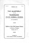 The Quarterly of the Washington State Normal School Fifth Summer Session