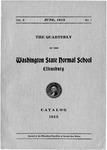 The Quarterly of the Washington State Normal School Ellensburg. Catalog 1913