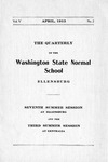 The Quarterly of the Washington State Normal School Ellensburg. Seventh Summer Session