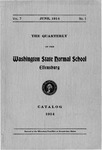The Quarterly of the Washington State Normal School Catalog