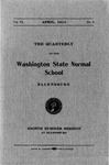 The Quarterly of the Washington State Normal School Eighth Summer Session