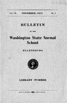 Bulletin of the Washington State Normal School