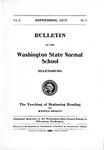 Bulletin of the Washington State Normal School, September