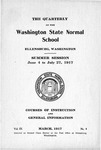 The Quarterly of the Washington State Normal School, Summer Session