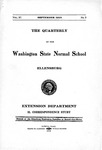 The Quarterly of the Washington State Normal School, Extension Department, September