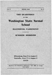 The Quarterly of the Washington State Normal School, Summer Sessions
