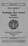 The Quarterly of the Washington State Normal School, Announcement of Summer Quarter
