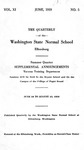 The Quarterly of the Washington State Normal School, Summer Supplemental Announcements