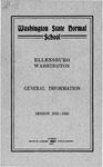 The Quarterly of the Washington State Normal School Ellensburg. Catalog Number [Session 1921-1922]