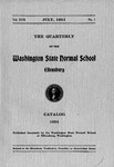 Washington State Normal School Catalog