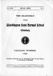 The Quarterly of the Washington State Normal School Ellensburg. Catalog Number [1925]