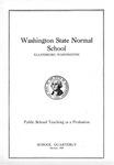 Washington State Normal School Public School Teaching as a Profession