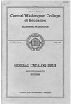 Central Washington College of Education, General Catalog Issue
