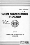 Central Washington College of Education, Revision of Program Requirements