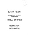 Summer Session Central Washington State College Ellensburg, Washngton Schedule of Classes and Registration Information 1962