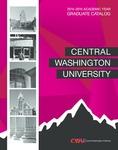 Central Washington University 2014-2015 Graduate Catalog