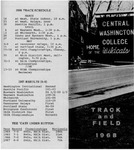 1968 Track and Field Guide by Central Washington University Athletics