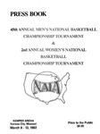 1982 NAIA Annual Men's and Women's Basketball Tournament Press Book by National Association of Intercollegiate Athletics