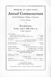 1940 Annual Commencement Central Washington College of Education