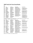 Great Northwest Athletic Conference Year-by-Year Cross Country Results