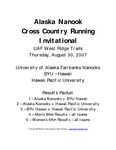 Alaska Nanook Cross Country Running Invitational