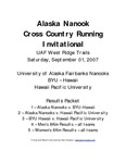 Alaska Nanook Cross Country Running Invitational