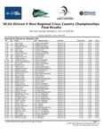 NCAA Division II West Regional Cross Country Championships, Final Results