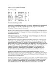 Central Washington University Women's Swimming Summaries, 1993-1994