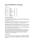 Central Washington University Men's Swimming Summaries, 1999-2000