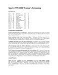 Central Washington University Women's Swimming Summaries, 1999-2000