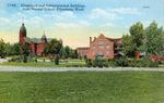 Barge Hall, Kamola Hall and Edison Hall, Washington State Normal School