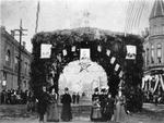 Celebration Under Evergreen Arch