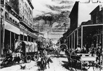Artistic Rendition of Early Ellensburg