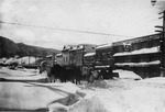 Heavy snow outside the Company Store, Cle Elum, 1916