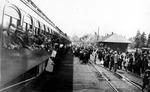 Troop Train at Cle Elum Depot
