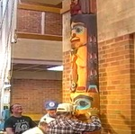 Tsungani Totem Pole Installation by Tsungani Fearon Smith Jr. and Chris Smart