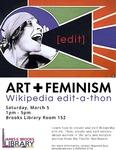 Art & Feminism Wikipeda edit-a-thon Winter 2016