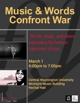 NEA Big Read: Music and Words Confront War