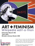 Art & Feminism Wikipeda edit-a-thon: Winter 2017
