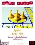 Game Night at the Brooks Library April 2017