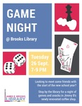 Game Night at the Brooks Library September 2017
