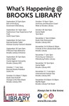 What's Happening at Brooks Library: Fall 2015
