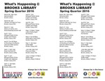 What's Happening at Brooks Library: Spring 2016