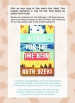 Book Club: A Tale for the Time Being: Advertisement