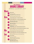 What's Happening at Brooks Library: Spring 2019