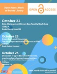 Open Access Week at Brooks Library 2019