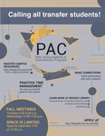 PAC: Peer Accountability & Connections program for transfer students Fall 2019