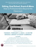 Editing, Grad School, Grants & More: How to Professionalize Beyond the Classroom